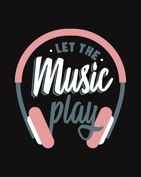 Shop Let It Play Headphones Scoop Neck Full Sleeve T-Shirt-Full