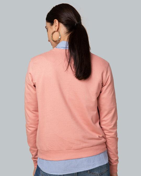 Shop Let Me Sleep Penguin Fleece Light Sweatshirt-Back