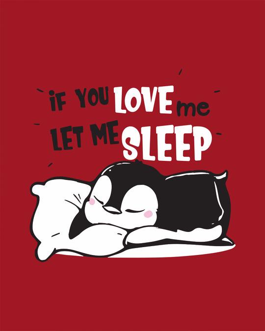 Shop Let Me Sleep Penguin Round Neck 3/4th Sleeve T-Shirt-Full