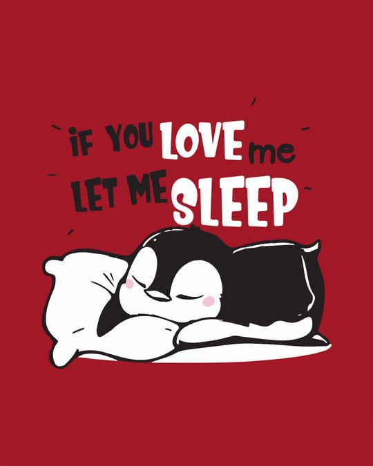 Shop Let Me Sleep Penguin Scoop Neck Full Sleeve T-Shirt-Full