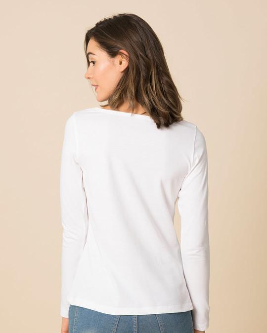 Shop Let's Break Up Scoop Neck Full Sleeve T-Shirt-Full