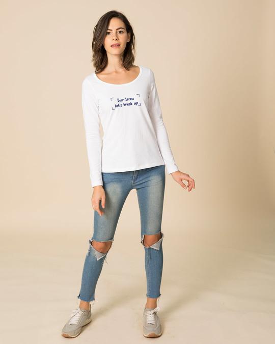 Shop Let's Break Up Scoop Neck Full Sleeve T-Shirt