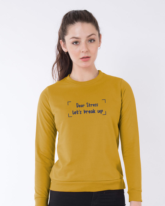 Shop Let's Break Up Fleece Sweater-Front