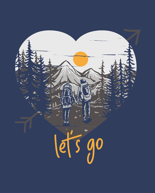 Shop Let's Go Heart Boyfriend T-Shirt