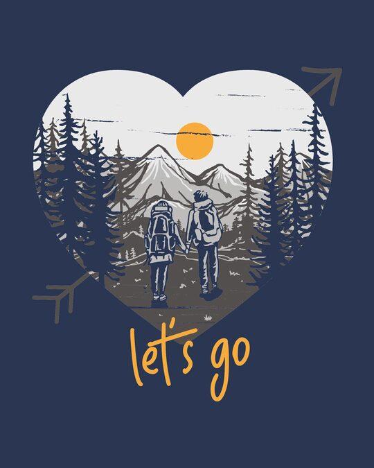 Shop Let's Go Heart Half Sleeve T-Shirt-Full
