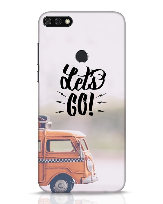 Shop Let's Go Huawei Honor 7C Mobile Cover-Front