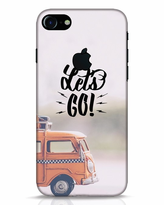 Shop Let's Go iPhone 7 Logo Cut Mobile Cover-Front