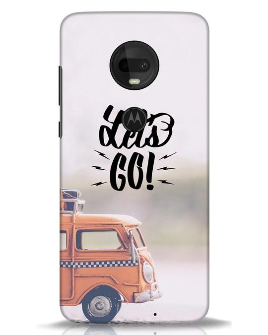 Shop Let's Go Moto G7 Mobile Cover-Front
