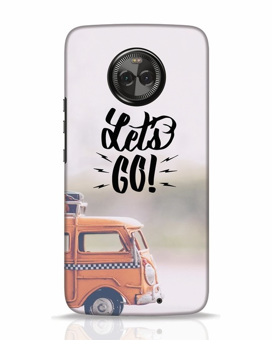 Shop Let's Go Moto X4 Mobile Cover-Front