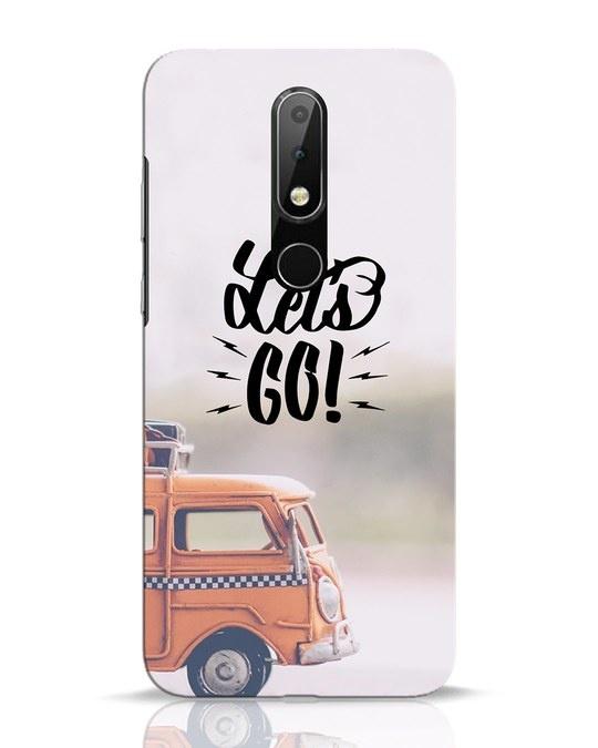 Shop Let's Go Nokia 6.1 Plus Mobile Cover-Front