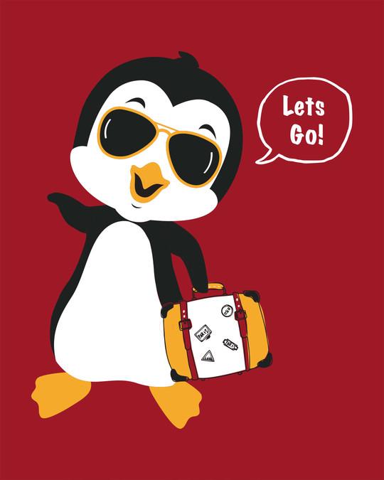 Shop Let's Go Penguin Boyfriend T-Shirt