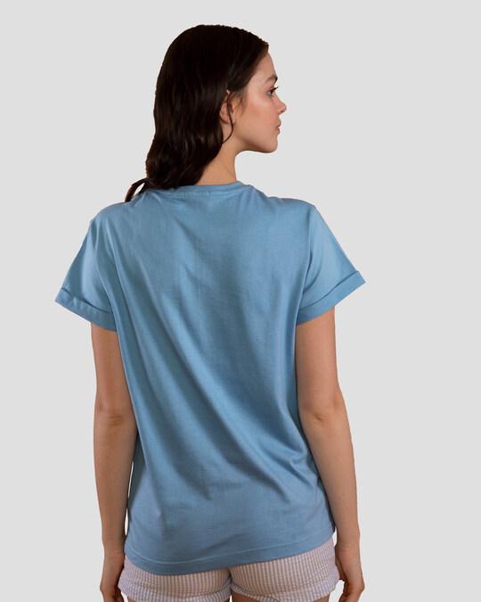 Shop Let's Go Penguin Boyfriend T-Shirt-Back