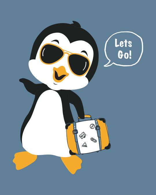 Shop Let's Go Penguin Boyfriend T-Shirt-Full