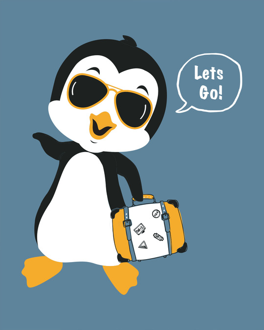 Shop Let's Go Penguin Scoop Neck Full Sleeve T-Shirt-Full