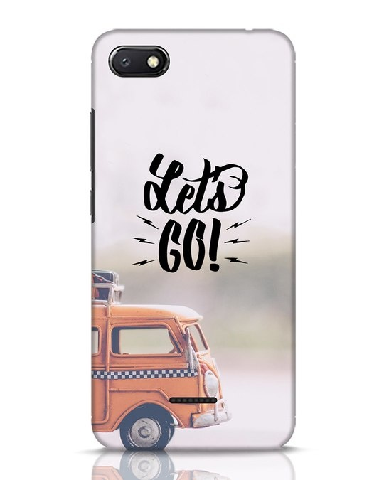 Shop Let's Go Xiaomi Redmi 6A Mobile Cover-Front