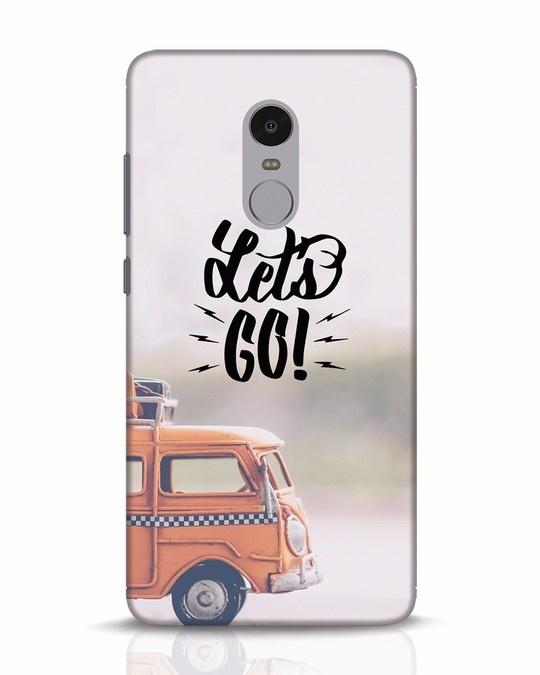 Shop Let's Go Xiaomi Redmi Note 4 Mobile Cover-Front