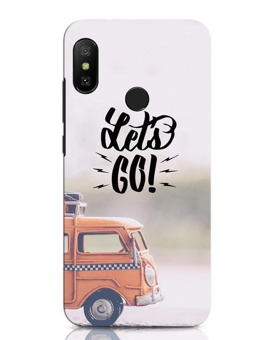 Shop Let's Go Xiaomi Redmi Note 6 Pro Mobile Cover-Front