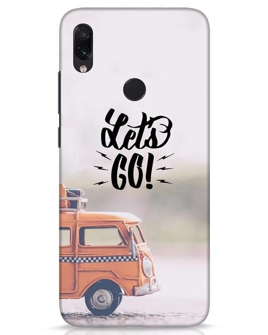 Shop Let's Go Xiaomi Redmi Note 7s Mobile Cover-Front