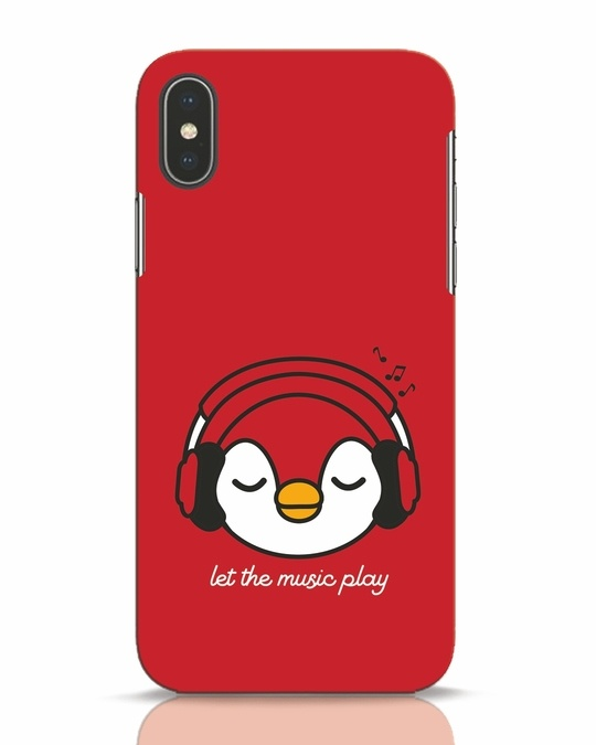 Shop Let The Music Play iPhone X Mobile Cover-Front
