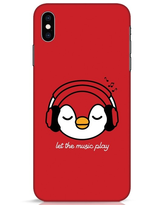 Shop Let The Music Play iPhone XS Max Mobile Cover-Front