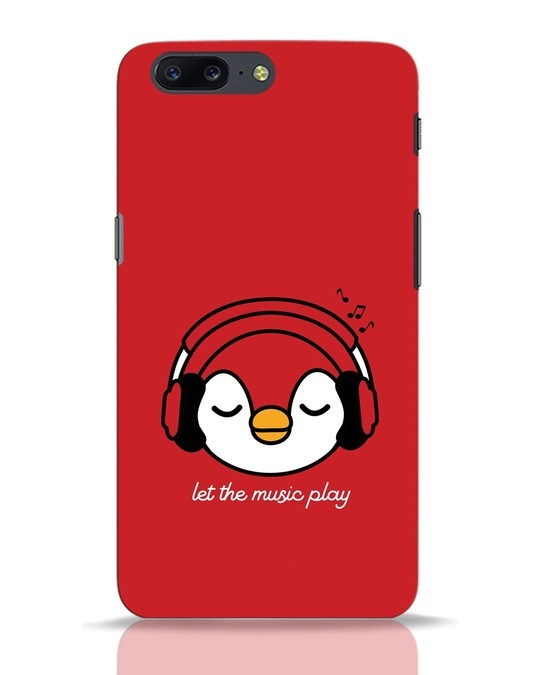 Shop Let The Music Play OnePlus 5 Mobile Cover-Front