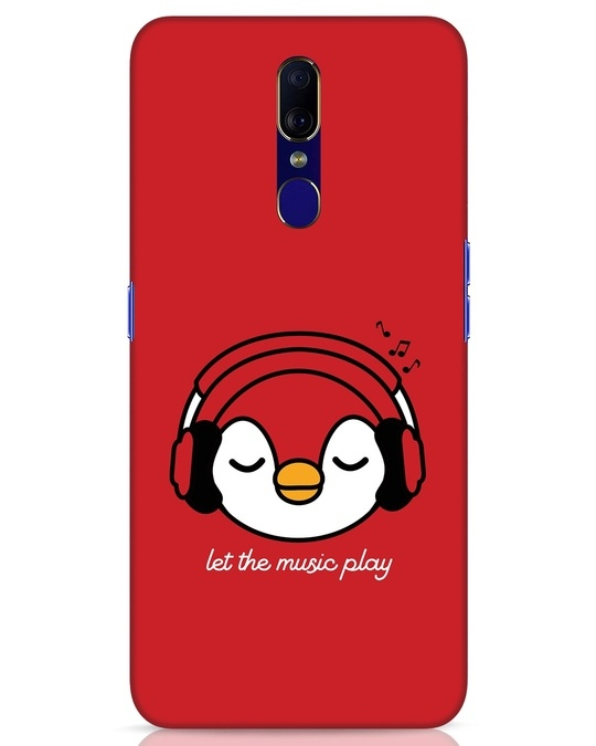 Shop Let The Music Play Oppo F11 Mobile Cover-Front