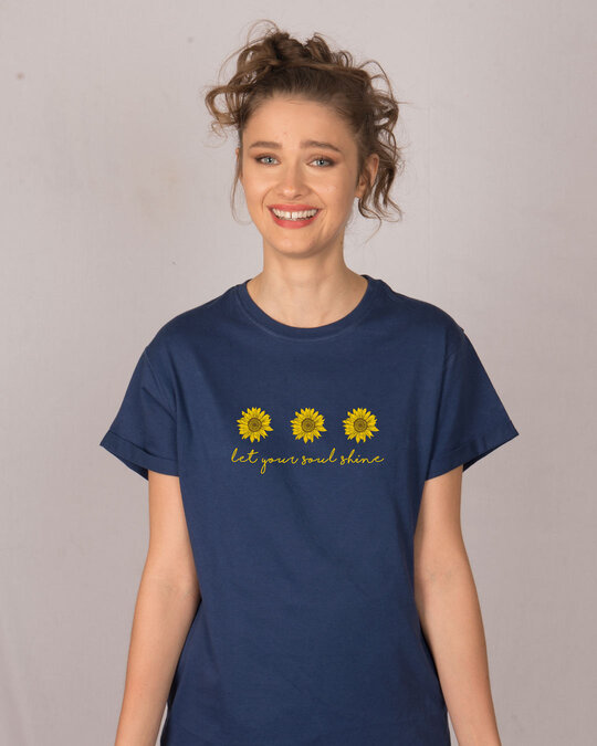 Shop Let Your Soul Shine Boyfriend T-Shirt-Front