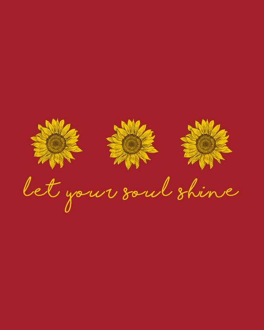 Shop Let Your Soul Shine Half Sleeve T-Shirt-Full