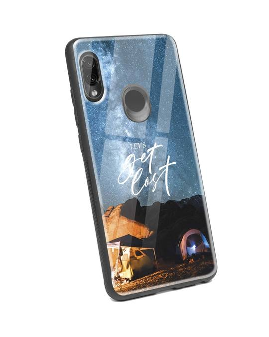 Shop Lets Get Lost Space Xiaomi Redmi Note 7 Pro Glass Mobile Cover-Back