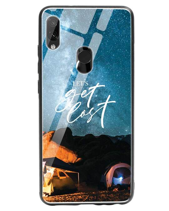 Shop Lets Get Lost Space Xiaomi Redmi Note 7 Pro Glass Mobile Cover-Front