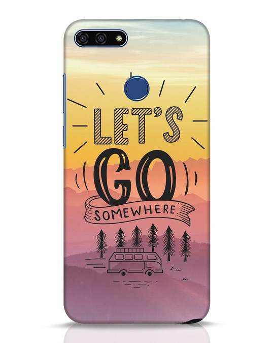 Shop Lets Go Somewhere Huawei Honor 7A Mobile Cover-Front