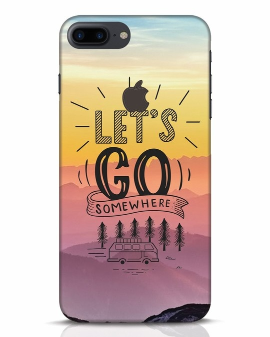 Shop Lets Go Somewhere iPhone 7 Plus Logo Cut Mobile Cover-Front