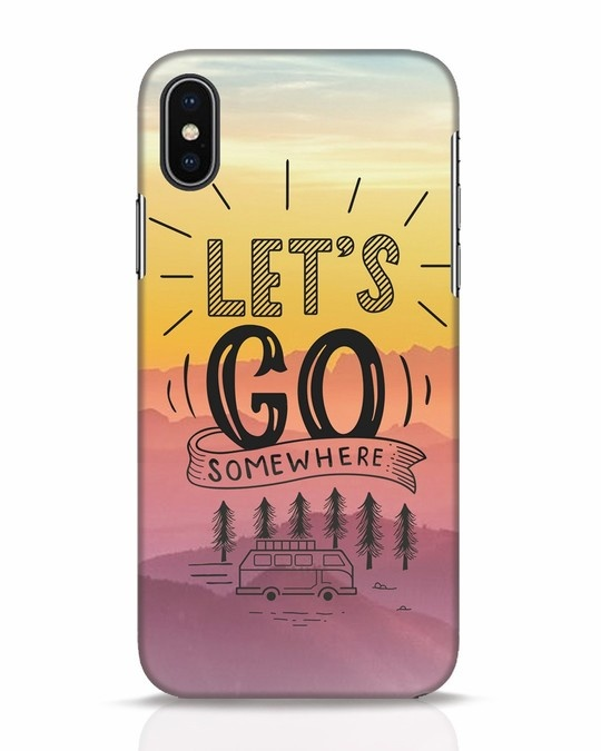 Shop Lets Go Somewhere iPhone X Mobile Cover-Front