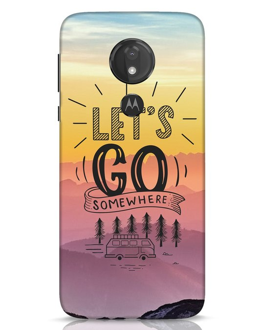Shop Lets Go Somewhere Moto G7 Power Mobile Cover-Front