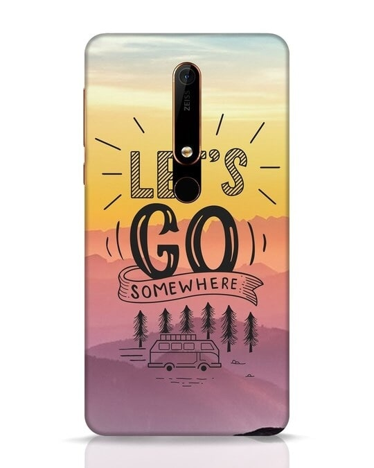 Shop Lets Go Somewhere Nokia 6.1 Mobile Cover-Front