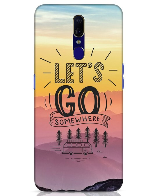 Shop Lets Go Somewhere Oppo F11 Mobile Cover-Front