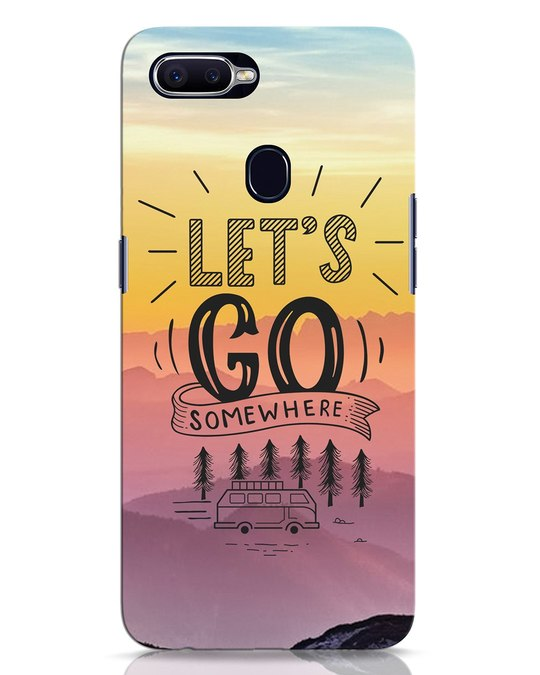Shop Lets Go Somewhere Oppo F9 Pro Mobile Cover-Front