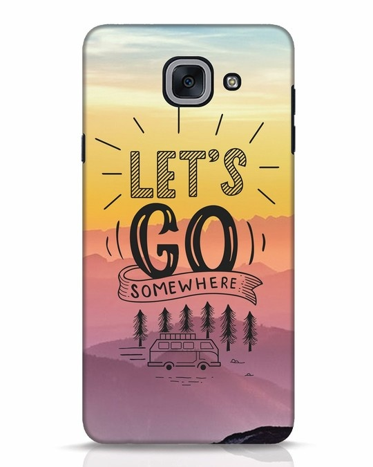 Shop Lets Go Somewhere Samsung Galaxy J7 Max Mobile Cover-Front