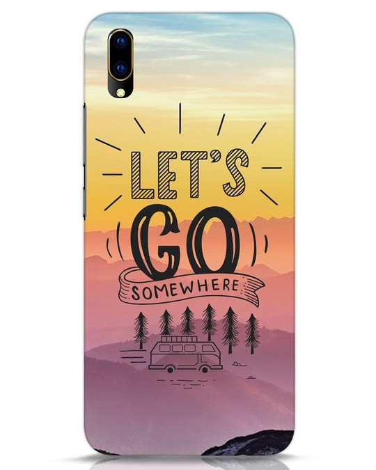 Shop Lets Go Somewhere Vivo V11 Pro Mobile Cover-Front