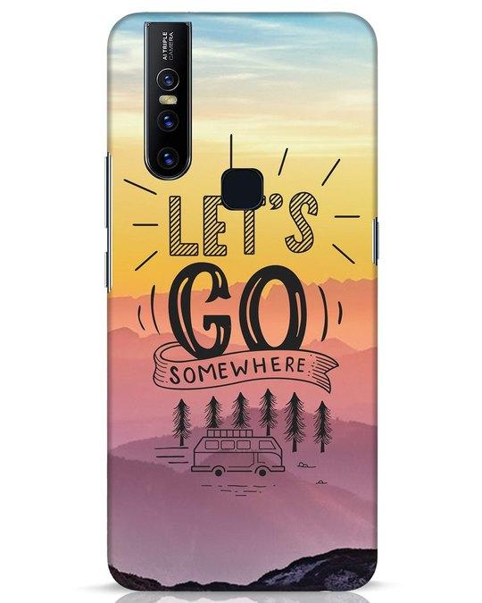 Shop Lets Go Somewhere Vivo V15 Mobile Cover-Front