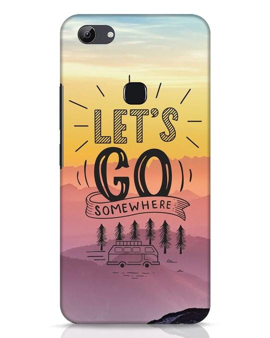 Shop Lets Go Somewhere Vivo Y83 Mobile Cover-Front