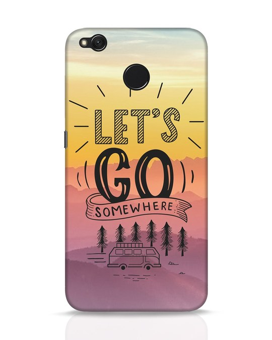 Shop Lets Go Somewhere Xiaomi Redmi 4 Mobile Cover-Front