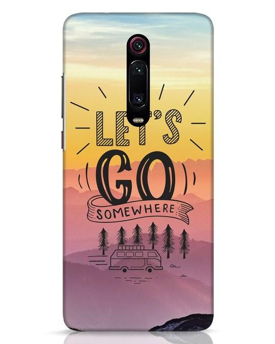 Shop Lets Go Somewhere Xiaomi Redmi K20 Pro Mobile Cover-Front