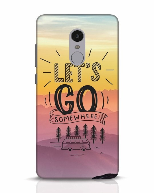 Shop Lets Go Somewhere Xiaomi Redmi Note 4 Mobile Cover-Front