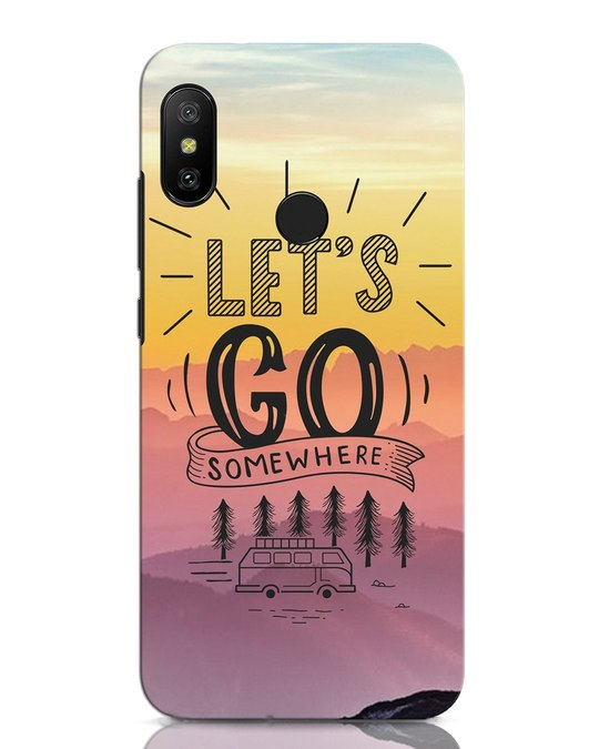 Shop Lets Go Somewhere Xiaomi Redmi Note 6 Pro Mobile Cover-Front