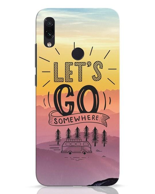 Shop Lets Go Somewhere Xiaomi Redmi Note 7 Pro Mobile Cover-Front