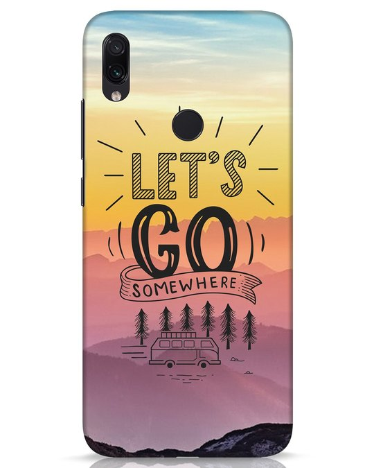Shop Lets Go Somewhere Xiaomi Redmi Note 7s Mobile Cover-Front