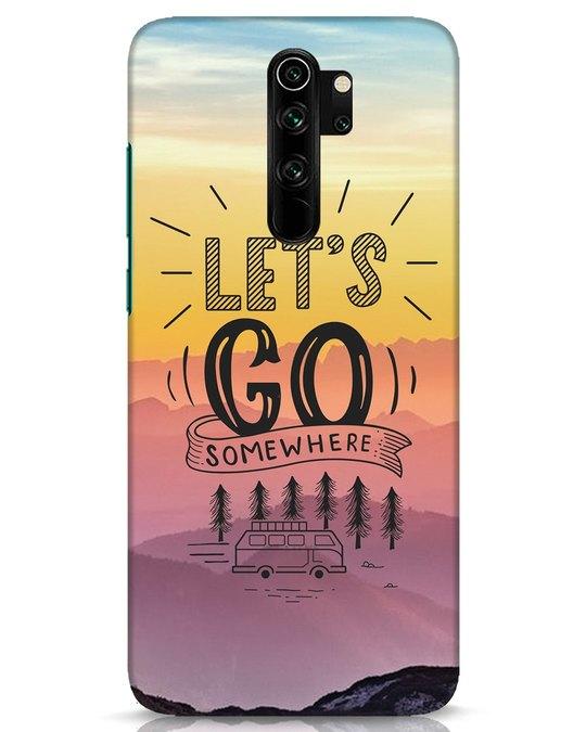Shop Lets Go Somewhere Xiaomi Redmi Note 8 Pro Mobile Cover-Front