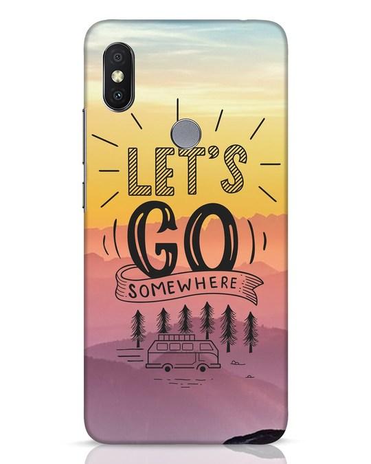 Shop Lets Go Somewhere Xiaomi Redmi Y2 Mobile Cover-Front