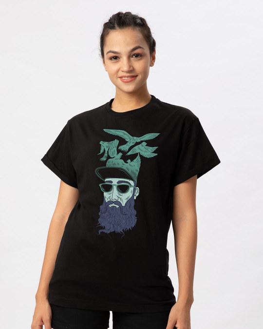 Shop Liberalism Boyfriend T-Shirt-Front